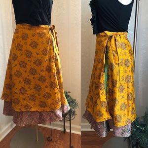 Dresses & Skirts - Versatile Wrap Silk Skirt